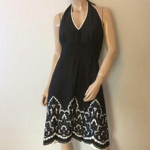 Black halter dress 14 large NEW NWT
